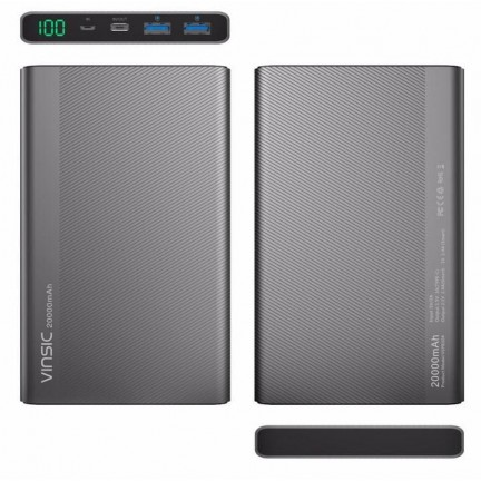 Vinsic 5V 3A 20000mAh Type-C Fast Charge Power Bank