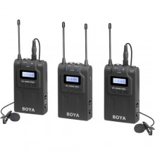 BOYA BY-WM8 Pro-K2 UHF Dual-Channel Lavalier Wireless Microphone