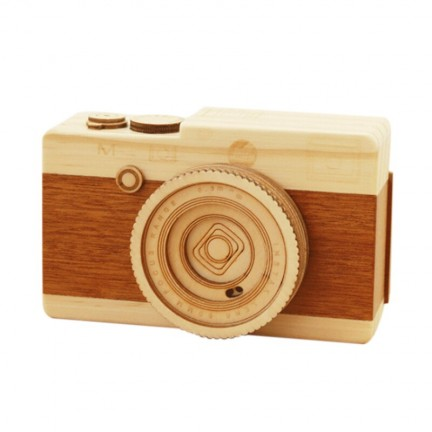 JEYL Wooden Music Box Camera Model
