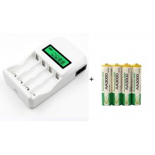 AA/AAA Rechargable Charger And AA Battery