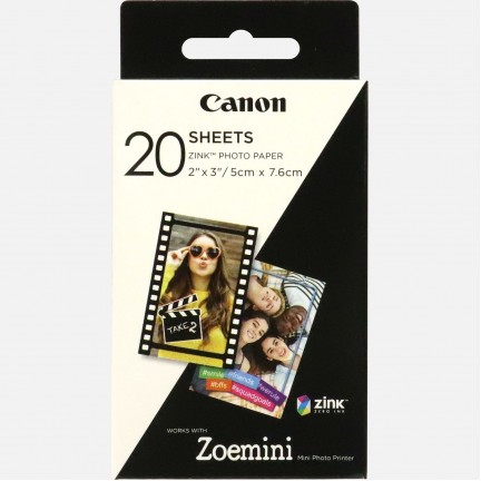 """Canon ZINK™ 2""""x3"""" Photo Paper x20 sheets"""
