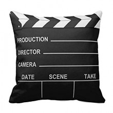 Lights Camera Action Pillow