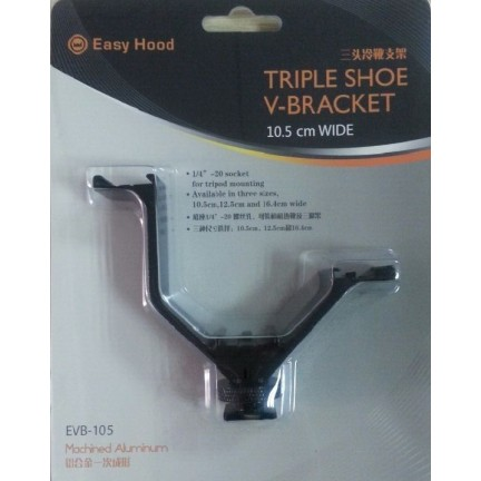 Camera Triple Mount Hot Shoe V Mount Bracket