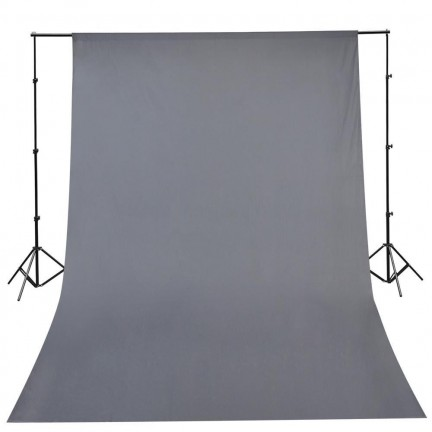 Background Stand with 3x6m Grey Backdrop