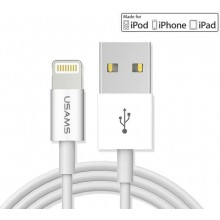 Usams Lightning True Mfi Certified Cable - White 120cm