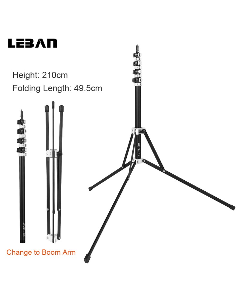 light stand with boom stand 210cm 2in1. Black Bedroom Furniture Sets. Home Design Ideas