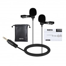 BOYA BY-LM300 Dual Lavalier Microphone for Camera