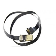 BLACK FPV Flat Slim HDMI Cable mini HDMI Standard HDMI 50cm