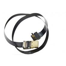 BLACK  FPV Flat Slim HDMI Cable mini HDMI Standard HDMI 100cm