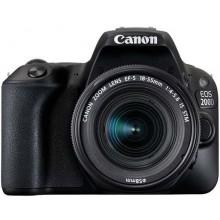 Canon EOS 200D EF-S 18-55mm STM Lens Kit - 24.2 MP, DSLR Camera, Black
