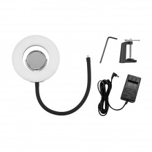 "Tabletop 8"" 5500K LED Ring Light Ringlight Video Light 24W Dimmable Fill Light"