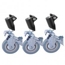 NiceFoto Light stand Wheels kits with lock