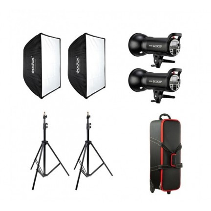 GODOX SK-300 II Studio Flash Softbox Kit