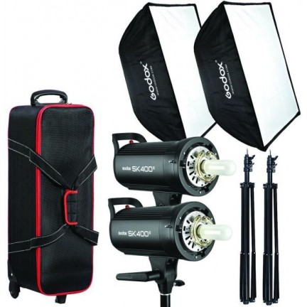 Godox Studio 2 Head Kit SK400II
