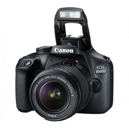 Canon EOS 4000D with EF-S 18-55 mm f/3.5
