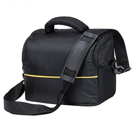 حقيبة كتف للكاميرات اسود واصفر