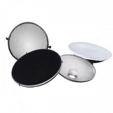 Beauty Dish with Grid and Diffuser
