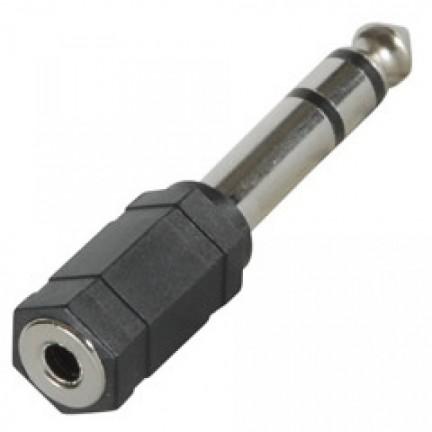 6.5mm Stereo Plug to 3.5mm Stereo Socket Adaptor