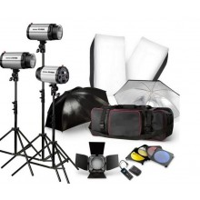 GODOX 750Ws 3 x 250W 250DI Studio Flash Lighting