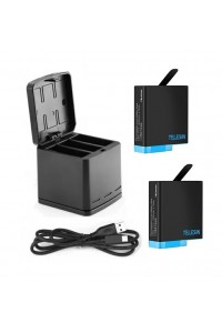TELESIN Triple Charger with Battery Kit