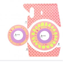 for Instax Mini 8/9 Sunflower Stickers