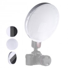 31cm Mini Portable Round On camera Flash Diffuser