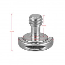 "1Pcs 1/4""-20 D Shaft D-ring Mounting Screw Adapter"