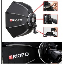 TRIOPO 65cm Portable Outdoor Octagon Umbrella Softbox for Flash Speedlite