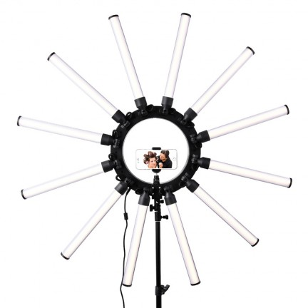 fosoto TL-1800 Photographic Lighting Dimmable 3200-5600K 12 Tubes