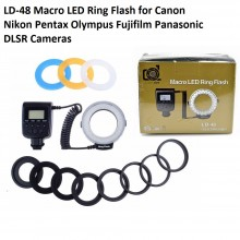 Lightdow LD-48 Macro LED Ring Flash Light with LCD Screen Display