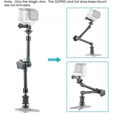 11inch Articulating Magic Arm for Camera LED light DSLR Rig LCD Monitor