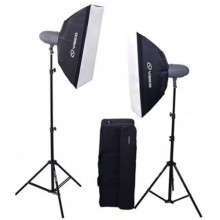 VISICO 600w STUDIO LIGHT KIT 2x300w